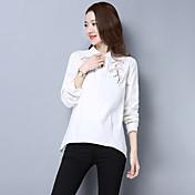 記号2017春の新しい女性の文学の新鮮な刺繍ルーズシャツは薄いブラウスの女性だった