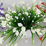 1 Větev Umělá hmota Kala Lilie Květina na stůl Umělé květiny 2*5