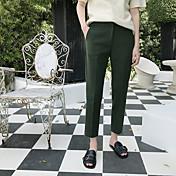 Gordo mm nueve puntos a través de pantalones de cigarrillos elegantes chic famoso suelto de color sólido sólido casual pequeño traje de