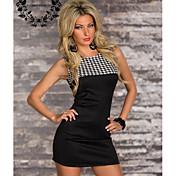 ヨーロッパとアメリカの女性' sファッションスペルカラーセクシーなパッケージヒップスリムノースリーブドレス