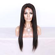 130%の密度シルキーストレート100%バージンブラジルの人間の髪フルレースのかつら黒の女性のための赤ちゃんの髪