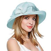 Mujer Primavera Verano Otoño Vintage Bonito Fiesta Trabajo Casual Poliéster Sombrero Playero Sombrero Floppy Sombrero para el sol,Retazos