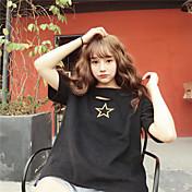 Signo agujero harajuku camiseta bordado estrellas teee