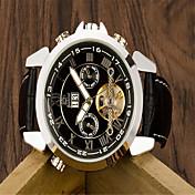 Pánské Módní hodinky Křemenný Kůže Kapela Běžné nošení Černá Černá a zlatá Stříbrný / bílá Gold / White Černá/Stříbrná