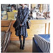 甘い緩い長袖の花柄のドレスの2017春新しい韓国のショッピング韓国語バージョンは、薄い腰の女性でした