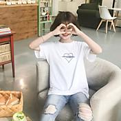 印刷されたプルオーバー半袖Tシャツティーサイン保持モデルシンプルなカジュアルな愛の手紙