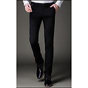 2017 de primavera y verano los hombres&# 39; s pantalones casuales coreanos adelgazan los pantalones elásticos pies masculinos