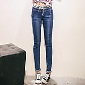 レディース シック・モダン OLスタイル 韓国語 活発的 ハイライズ ペンシルベイト strenchy スリム パンツ 縞柄 純色 縞柄