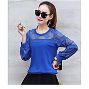 Camisa long-sleeved femenina 2017 del cordón las nuevas yardas grandes flojas salvajes coreanas del resorte ponen en cortocircuito la