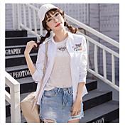 firmar 2017 nueva primavera fresca pequeña camisa de algodón bordado aseguramiento de la calidad femenina