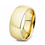 Prsten Ocel Circle Shape kruh Zlatá Stříbrná Šperky Denní 1ks