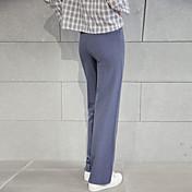 primavera de 2017 signo entallado ligeramente los pantalones femeninos delgados de la fregona delgada coreana fue yardas grandes flojas,
