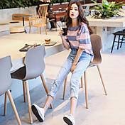firmar 2017 modelos de primavera hogares coreanos tienen ropa con el agujero de dinero suelto nueve puntos pantalones vaqueros femenina