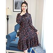 2017 nuevas mujeres surcoreanas&# 39; s gasa floral falda sección larga de cobertura vestido de cintura plisada