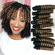 Trenza de la torcedura Croché hinchable Curl 100% kanekalon pelo KanekalonNegro / Strawberry Blonde Negro / castaño medio Negro / Borgoña