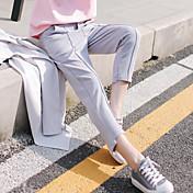 レディース ソリッドカラー ミッドライズ ペンシルベイト strenchy スリム パンツ 純色 純色