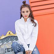 Muestra Japón y Corea del Sur 2017 nueva primavera Winnie bolsillo personalizado suelta doblar la cintura era delgada camisa salvaje