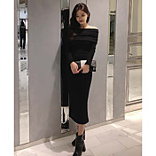 大きな貨物は韓国のセクシーなストラップレスリアカラー分割スリムスカートドレスを持っています