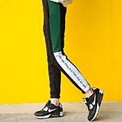 サインスポット2016冬の新しい印刷ステッチ女性の大学の風のパンツズボンの脚のズボンビーム