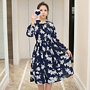 女性に署名' sの2017春の新しいロマンチックな傘印刷の弓腰のスイングドレスファッション野生