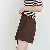 signo de la primavera 2017 salvajes delgados elásticos cortocircuitos de la falda posterior cordón de la cintura femenina