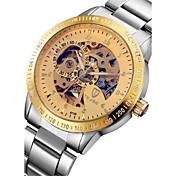 Tevise Hombre Pareja Reloj de Moda El reloj mecánico Cuarzo Calendario Resistente al Agua Luminoso Acero Inoxidable BandaCosecha Bohemio