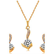 Colgantes Collar Pendientes Set La imitación de diamante Moda Euramerican Cristal Legierung cabeza 1 Collar 1 Par de Pendientes ParaBoda