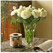 10 Piezas 10 Rama Seda Peonías Flor de Mesa Flores Artificiales