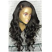 Volná vlna 360 krajkové paruky s dětskými vlasy brazilské panenské lidské vlasy 180% hustota 360 krajka přední paruky pro černé ženy