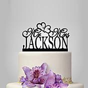 Figurky na svatební dort Přizpůsobeno Akryl Svatba Výročí Párty pro nevěstu Zahradní motiv Klasický motiv rustikální téma OPP