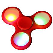 ハンドスピナー おもちゃ 三角形 セラミック プラスチック EDC ストレスや不安の救済 オフィスデスクのおもちゃ ADD、ADHD、不安、自閉症を和らげる キリングタイム フォーカス玩具 ハイスピード 光る LEDライト アイデアおもちゃ
