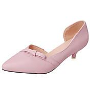 Mujer Zapatos de taco bajo y Slip-Ons Confort botas slouch PU Primavera Otoño Casual Paseo Confort botas slouch Pajarita Tacón BajoNegro