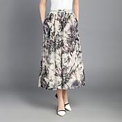 Dámské Sweet Style Kalhoty chinos Kalhoty Široké nohavice High Rise Plisé Šifón Třásně Tisk