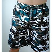 Pánské Jednoduchý Natahovací Kraťasy Kalhoty Volné Mid Rise Camuflaj