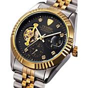 Tevise Hombre Pareja Reloj de Moda El reloj mecánico Calendario Resistente al Agua Luminoso Acero Inoxidable Banda Cosecha Bohemio Cool