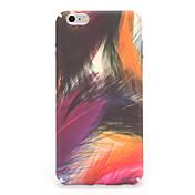 Para el caso de la contraportada del patrón de la cubierta del caso del iphone 7 7plus de la PC la pluma de color de las plumas del