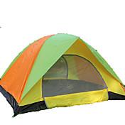 3-4人 テント ダブル 折り畳みテント 1つのルーム キャンプテント <1000mm ファイバーグラス オックスフォード 防水 防風 抗紫外線 折り畳み式 通気性-ハイキング キャンピング 屋外-