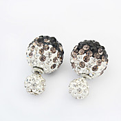kuličkové náušnice Šperky Módní Bohemia Style Přizpůsobeno Štras Slitina Šperky Šperky Pro Svatební Zvláštní příležitosti 1 pár