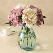 5 Piezas 5 Rama Plástico Peonías Flor de Mesa Flores Artificiales