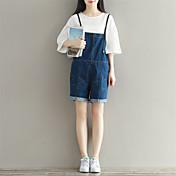 レディース キュート ストリートファッション ハイライズ ルーズ マイクロエラスティック ショーツ オーバーオール パンツ ゼブラプリント