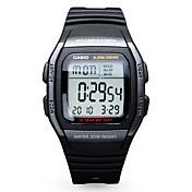 Casio Pánské Sportovní hodinky Módní hodinky Digitální hodinky japonština Digitální Kalendář Voděodolné Pryž Kapela Běžné nošení Černá