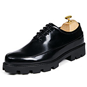 Oxfordské-Koženka-Společenské boty-Pánské--Svatba Běžné Party-Plochá podrážka