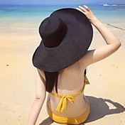 レディース 夏 ハット ヴィンテージ クラシック・タイムレス リネン マイクロファイバー 純色 日よけ帽 純色