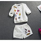 レディース 春 夏 Tシャツ(21) パンツ スーツ ラウンドネック 半袖 strenchy