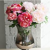 1Piece / Set 1 Rama Seda Peonías Flor de Mesa Flores Artificiales