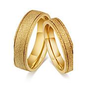 カップル用 カップルリング バンドリング 指輪 ビンテージ シンプルなスタイル クラシック チタン鋼 円形 ジュエリー 用途 結婚式 パーティー 婚約 日常