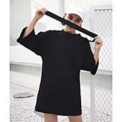 Mujer Simple Casual/Diario Primavera Verano Camiseta,Escote Redondo Un Color 1/2 Manga Algodón Fino