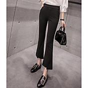 Mujer Sencillo Alta cintura strenchy Chinos Pantalones,Delgado Un Color