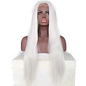 Mujer Pelucas sintéticas Encaje Frontal Corto Medio Largo Liso Blanco Entradas Naturales Raya en medio Peluca natural Las pelucas del