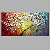 Ručně malované Květinový/Botanický motiv Módní a moderní Jeden panel Plátno Hang-malované olejomalba For Home dekorace